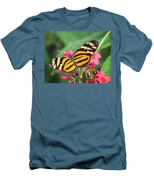 Men's T-Shirt (Athletic Fit) featuring the photograph The Postman Longwing  by Saija Lehtonen