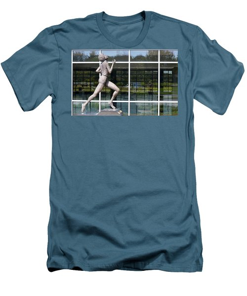 Men's T-Shirt (Athletic Fit) featuring the photograph The Runner by AJ Schibig