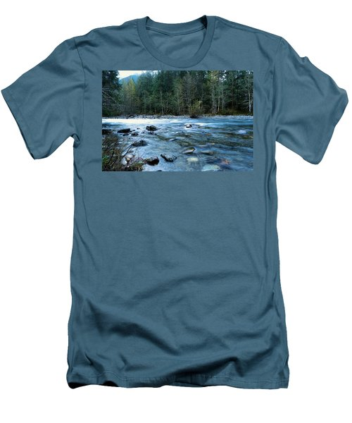 Men's T-Shirt (Slim Fit) featuring the photograph The Snowqualmie River by Jeff Swan