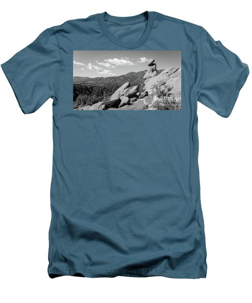 The Valley Below Men's T-Shirt (Slim Fit) by Deborah Klubertanz