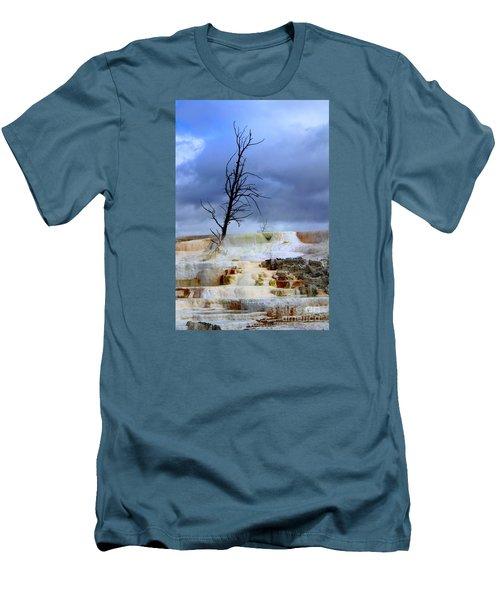Travertine Terraces Men's T-Shirt (Slim Fit) by Irina Hays