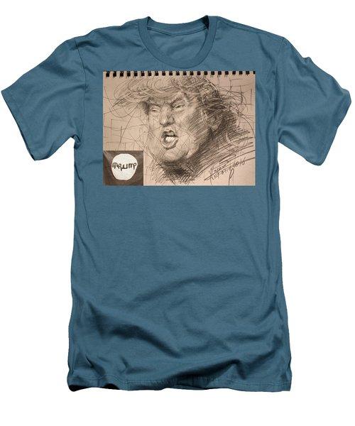 Trump Men's T-Shirt (Slim Fit) by Ylli Haruni
