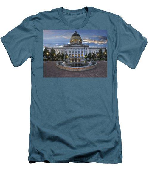 Utah State Capitol Building Men's T-Shirt (Slim Fit) by Utah Images