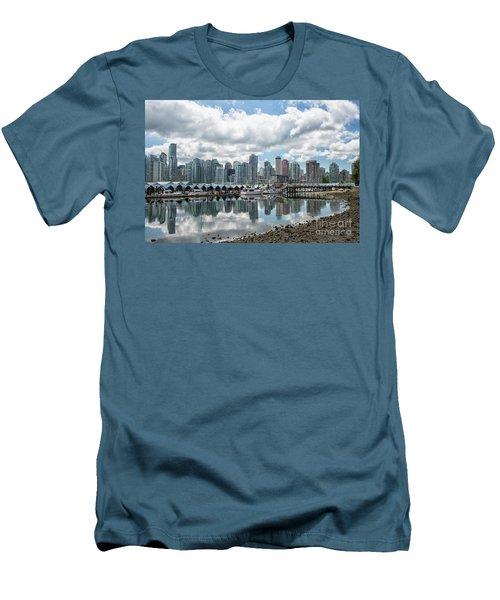 Vancouver Skyline Men's T-Shirt (Slim Fit) by Patricia Hofmeester