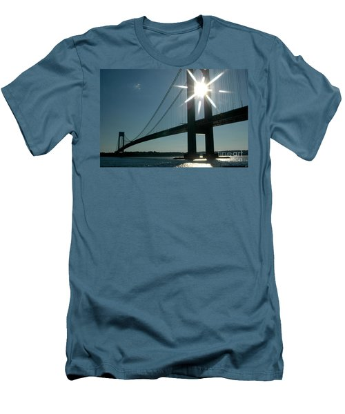 Verrazano Bridge Starburst Men's T-Shirt (Athletic Fit)