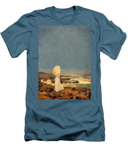 Victorian Lady By The Sea Men's T-Shirt (Athletic Fit)