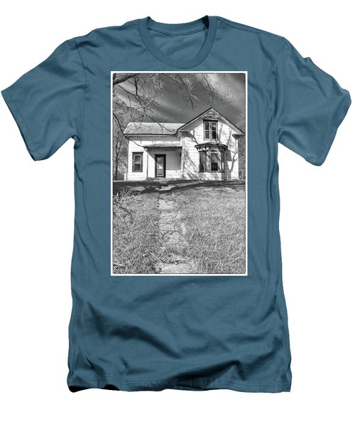 Visiting The Old Homestead Men's T-Shirt (Slim Fit) by Guy Whiteley