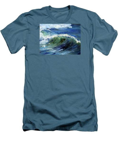 Wave Action Men's T-Shirt (Slim Fit) by Michael Helfen