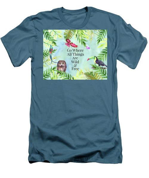 Wild And Free Men's T-Shirt (Slim Fit) by Colleen Taylor