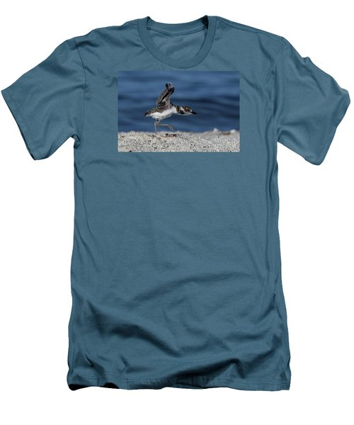Wilson's Plover Men's T-Shirt (Slim Fit) by Meg Rousher