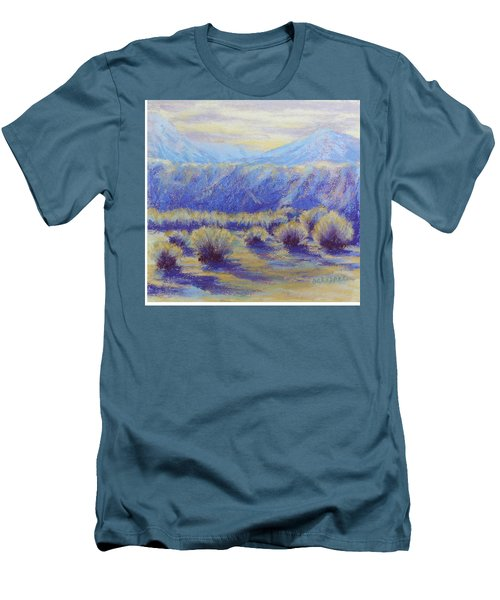 Winter Morning Riverbend Men's T-Shirt (Slim Fit) by Becky Chappell