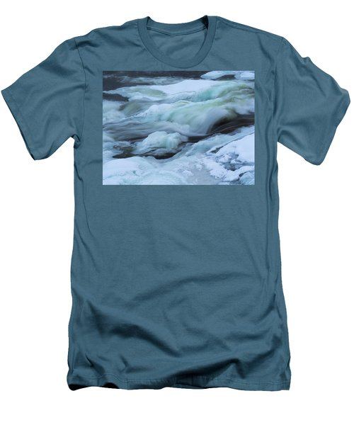 Winter Waterfall Men's T-Shirt (Slim Fit) by Tamara Sushko