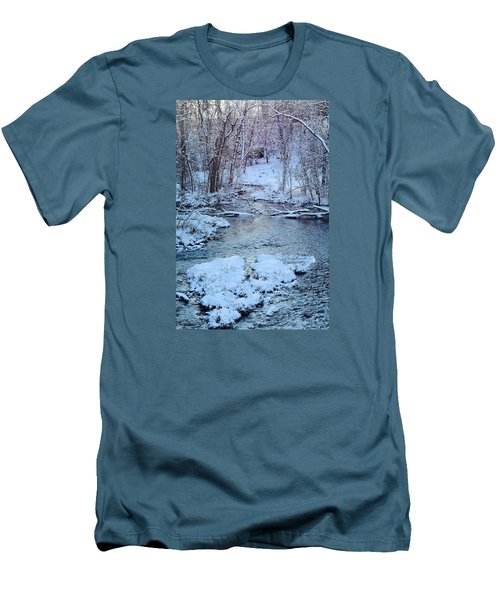 Men's T-Shirt (Slim Fit) featuring the photograph Winter Wonderland by Dacia Doroff