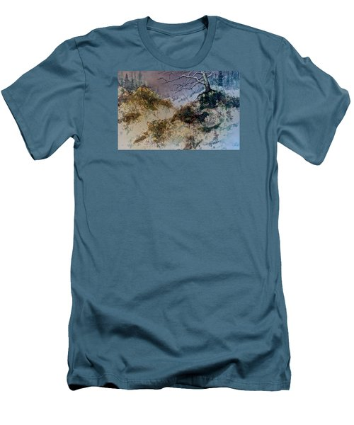 Men's T-Shirt (Slim Fit) featuring the painting Winter's Morn by Carolyn Rosenberger