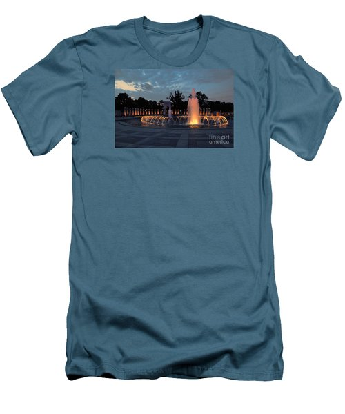 World War II Memorial Fountain Men's T-Shirt (Athletic Fit)
