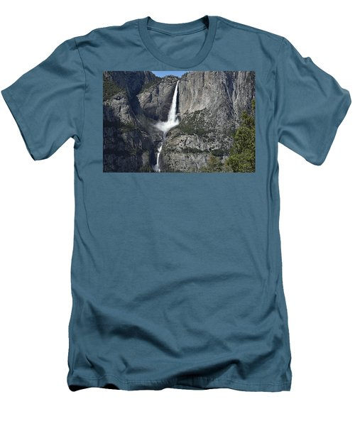 Yosemite Falls From The Four Mile Trail Men's T-Shirt (Athletic Fit)