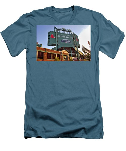 100 Years At Fenway Men's T-Shirt (Slim Fit) by Joann Vitali