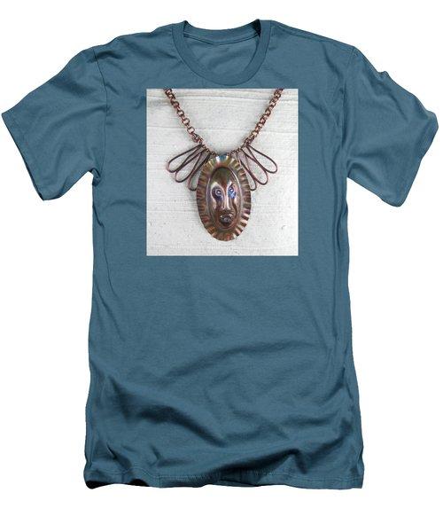 1254 Tribal Mask Men's T-Shirt (Slim Fit)
