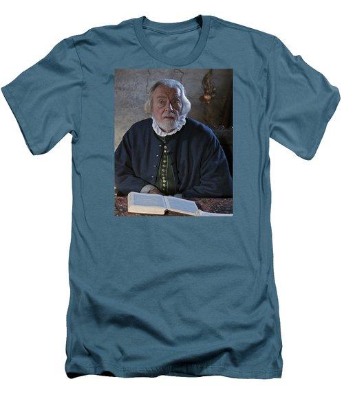 1600's Pilgrim Men's T-Shirt (Slim Fit) by Stephen Flint