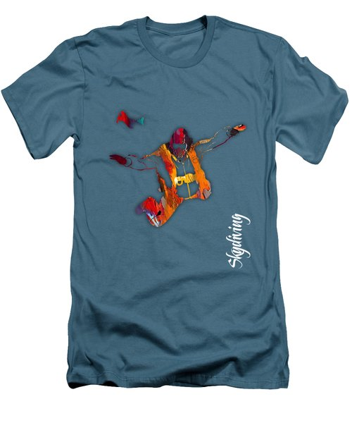 Skydiving Collection Men's T-Shirt (Slim Fit) by Marvin Blaine