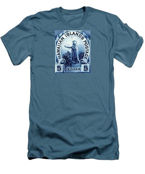 1899 Statue Of Kamehameha Stamp Men's T-Shirt (Athletic Fit)