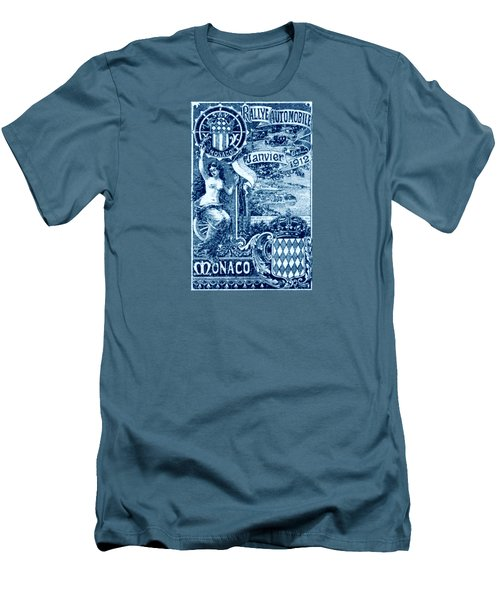 Men's T-Shirt (Slim Fit) featuring the painting 1912 Monaco Automobile Rally by Historic Image