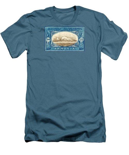 1920 Armenian Mount Ararat Stamp Men's T-Shirt (Slim Fit) by Historic Image
