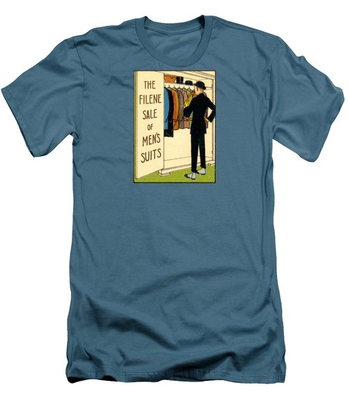 Men's T-Shirt (Slim Fit) featuring the painting 1920 Mens's Suites On Sale by Historic Image
