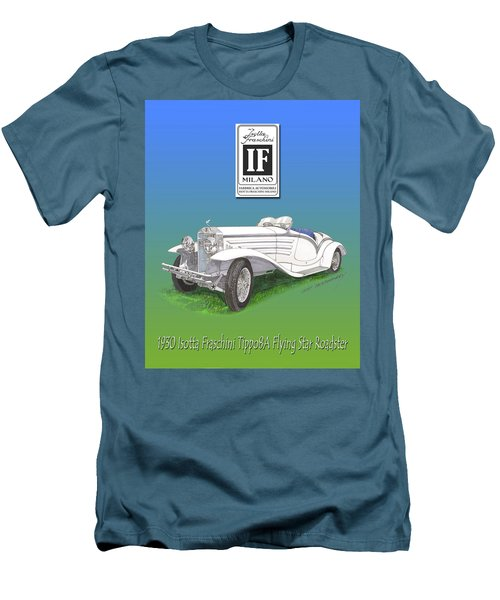 1930 Isotta Fraschini Tippo 8 A Flying Star Roadster Men's T-Shirt (Slim Fit) by Jack Pumphrey