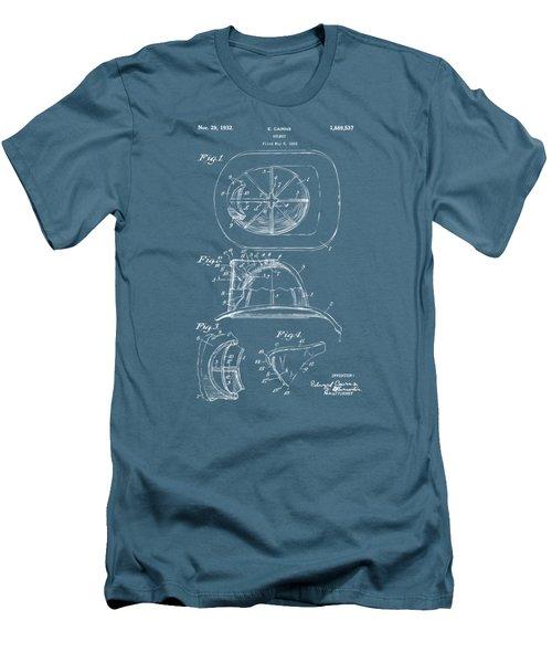 1932 Fireman Helmet Artwork Blueprint Men's T-Shirt (Athletic Fit)