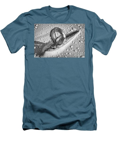 Men's T-Shirt (Slim Fit) featuring the photograph 1955 Buick Hood Ornament 2 by Dennis Hedberg