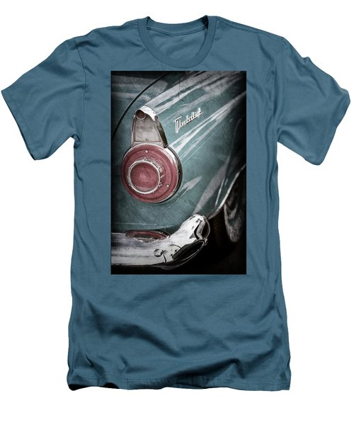Men's T-Shirt (Slim Fit) featuring the photograph 1956 Ford Thunderbird Taillight Emblem -0382ac by Jill Reger