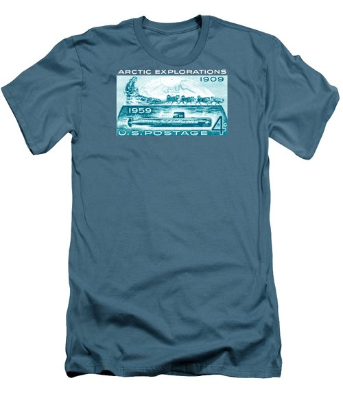 Men's T-Shirt (Slim Fit) featuring the painting 1959 Arctic Explorations by Historic Image