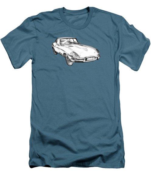 1964 Jaguar Xke Antique Sportscar Illustration Men's T-Shirt (Slim Fit) by Keith Webber Jr