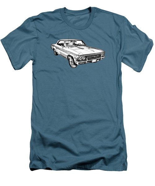 1966 Chevy Chevelle Ss 396 Illustration Men's T-Shirt (Athletic Fit)
