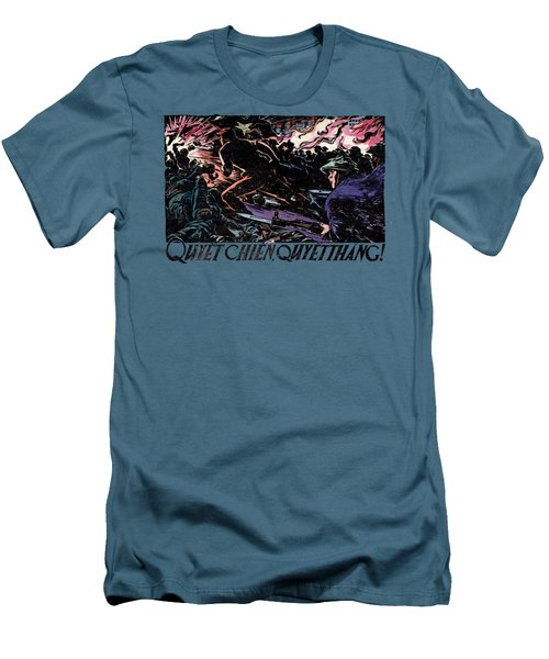 Men's T-Shirt (Slim Fit) featuring the painting 1968 North Vietnamese Propaganda by Historic Image