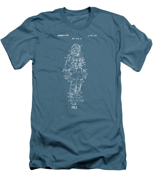 1973 Astronaut Space Suit Patent Artwork - Red Men's T-Shirt (Slim Fit) by Nikki Marie Smith