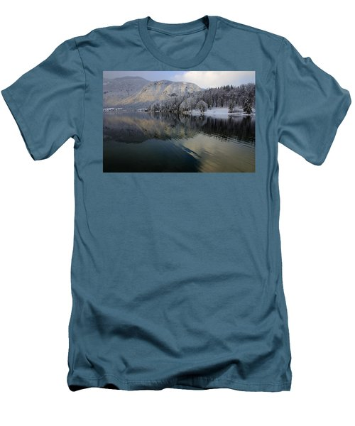 Alpine Winter Reflections Men's T-Shirt (Athletic Fit)