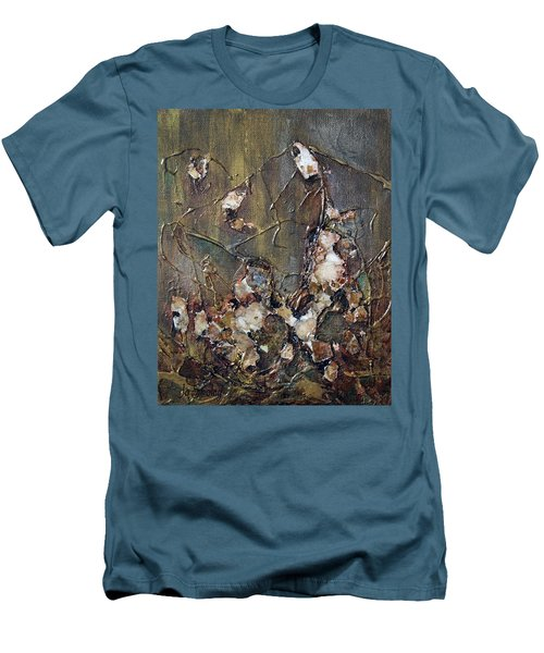 Men's T-Shirt (Slim Fit) featuring the painting Autumn Leaves by Joanne Smoley