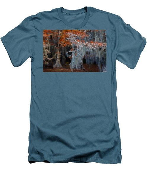 Men's T-Shirt (Slim Fit) featuring the photograph Autumn Moss by Lana Trussell
