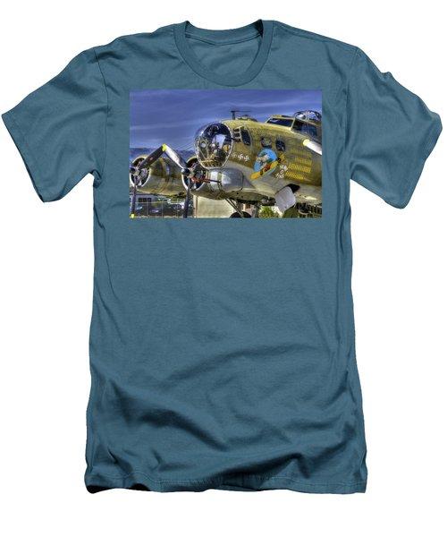 B-17 Men's T-Shirt (Slim Fit) by Joe  Palermo