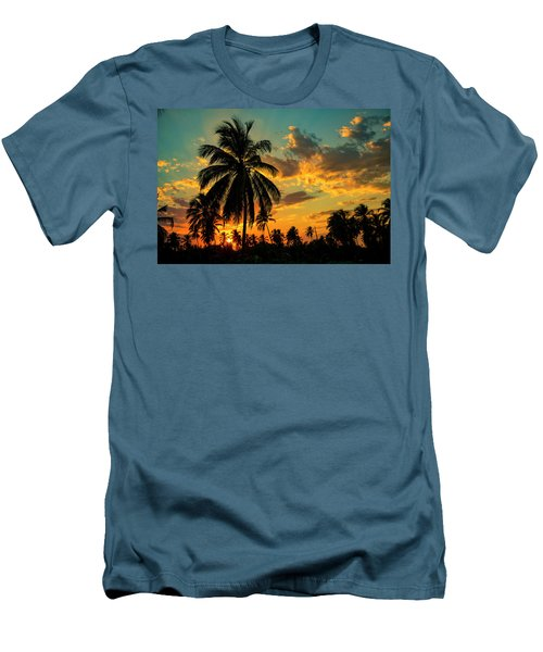 Blazing Sunset Men's T-Shirt (Athletic Fit)