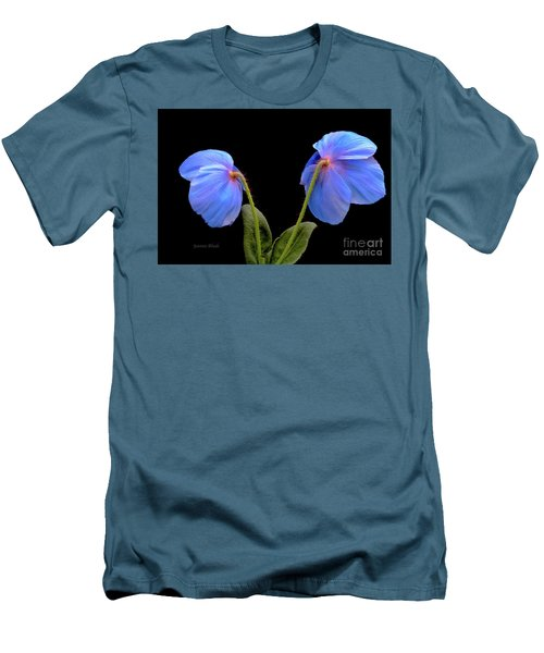 Blue Poppies Men's T-Shirt (Athletic Fit)