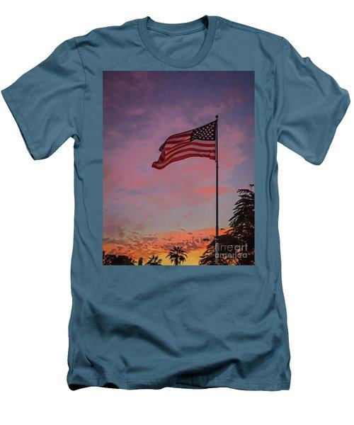Freedom Men's T-Shirt (Slim Fit) by Robert Bales