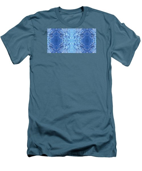 Frost Feathers Men's T-Shirt (Slim Fit) by Marianne Dow