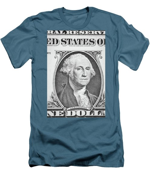 Men's T-Shirt (Slim Fit) featuring the photograph George Washington by Les Cunliffe