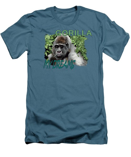 Gorilla My Dreams Men's T-Shirt (Slim Fit) by Joseph Juvenal