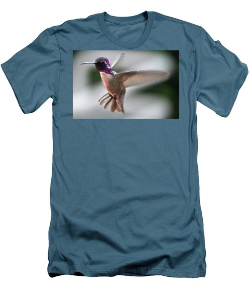 Male Anna's In Flight Men's T-Shirt (Slim Fit) by Jay Milo