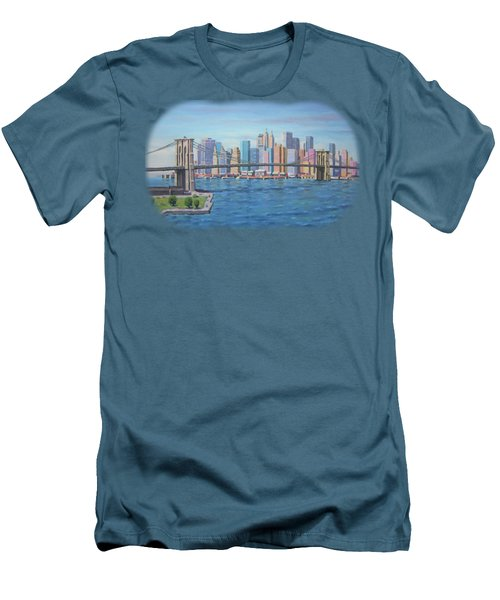 New York Brooklyn Bridge Men's T-Shirt (Athletic Fit)
