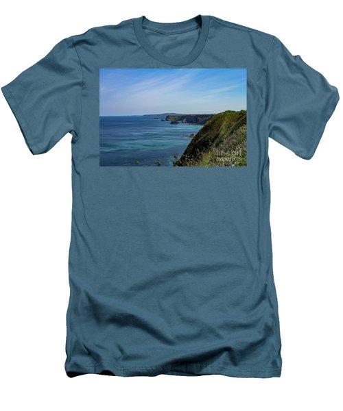 North Coast Cornwall Men's T-Shirt (Slim Fit) by Brian Roscorla